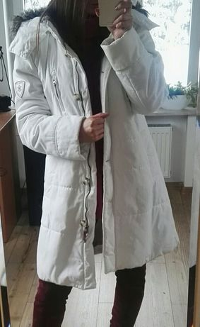 Biały płaszczyk, kurtka Esprit L