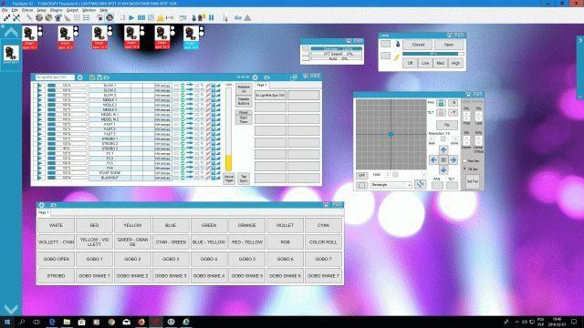 Gotowe Show FRACTAL MINI LED GOBO SPOT 30W dla 6 szt Frestyler DMX