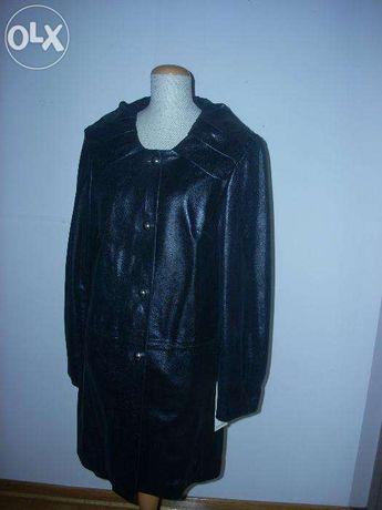 Płaszcz z bardzo miękkiej skóry, włoski, nowy