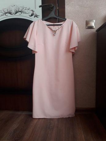Плаття пудрове 44
