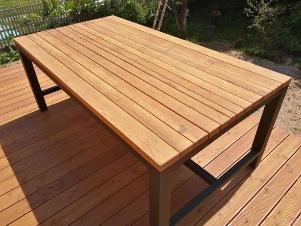 Stół na taras lub do ogrodu,masywny,tarasowy,ogrodowy blat 4cm jesion