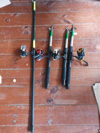 Набір вудочок-телескопок з катушками 1*2,10м,2*2,4м, 1*3м