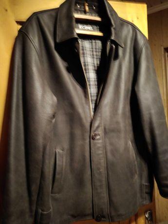 Куртка коженаня мужская темно коричневая