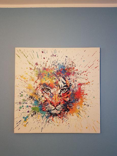Obraz - wydruk na płótnie 80x80 cm - Tygrys