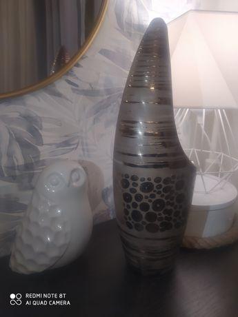 Wazon ceramiczny kolor brąz, miedź. 40 cm. Fortestyle. Stan b.dobry