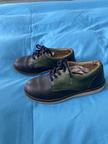 Кожание туфли Zara( шкіряні черевики)