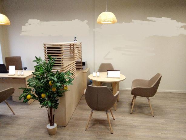 Komplet mebli ze sklejki do gabinetu, kancelarii, biura lub domu