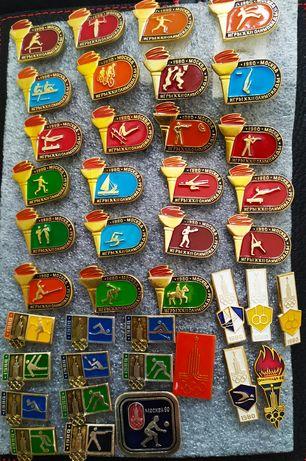 42 шт! Значки СССР Олимпиада 80 олимпийские значки мишка Москва 80