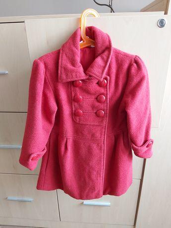 Czerwony płaszczyk, 3-4 lata,dziewczynka, kurtka
