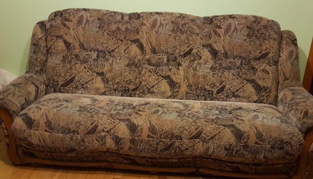 Zestaw kanapa i dwa fotele Swarzędz jak nowe
