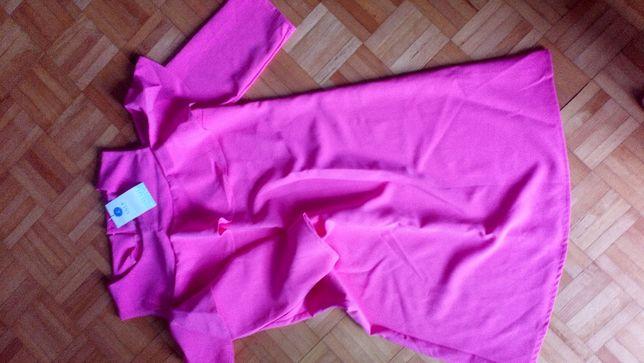 Sukienka odkryte ramiona falbanką roz. 36