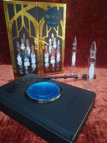 Harry Potter caixa + Pensatório + caderno + varinha Dumbledore caneta