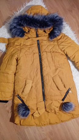 Пальто зимнее 10 лет р.140