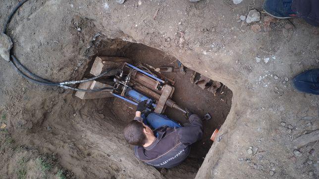 Аварийная прочистка канализации прокол пробивка грунта замена труб