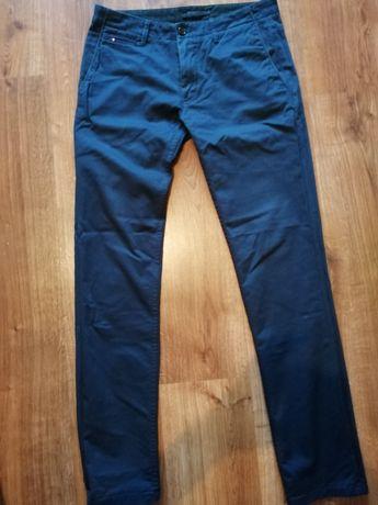 Spodnie Zara męskie elaganckie granatowe