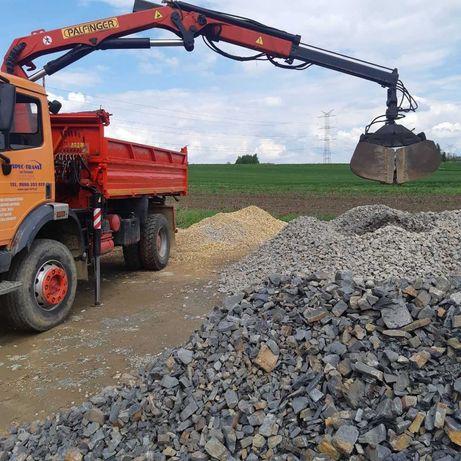Usługi transport HDS+łyżka, transport ziemia, kamienie, piach, drewno.