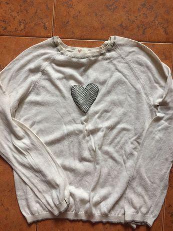 Легкий шерстяной свитер для девочки 9-10 лет