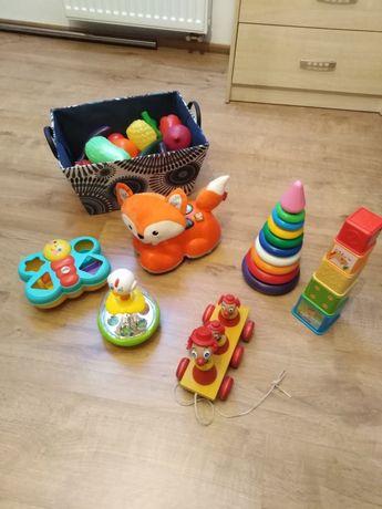 Zabawki dla dzieci, piramida, lisek fisher price,