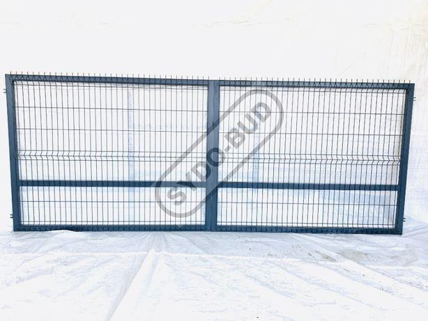 Brama panelowa dwuskrzydłowa 4m x 1,5 + AKCESORIA