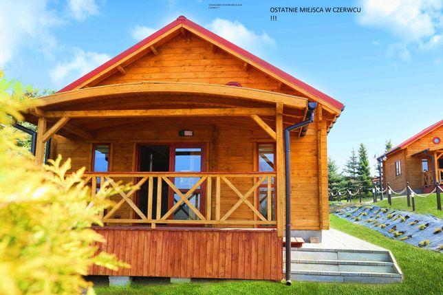 Domki na Mazurskim Wzgórzu - nad jeziorem dla 6 osób
