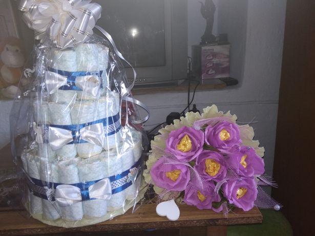 Памперсный торт,торт из памперсов