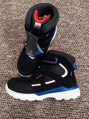 Зимние ботинки термосапоги Ecco, мембрана gore-tex