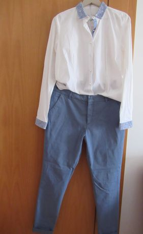 Reservado, calça, tamanho 44, L.P. e camisa L.P. tamanho XL.