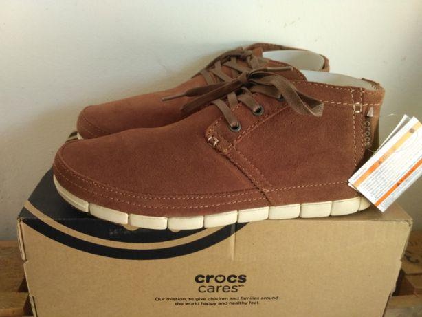 Замшевые ботинки крокс Crocs Stretch Sole Desert Boot, стелька 25,8 см