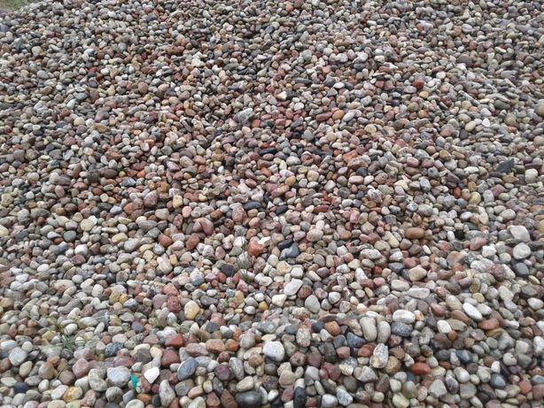 Kamień otoczak 8-16, 16-32 żwir płukany CZYSTY drenazowy ozdobny ŁÓDŹ