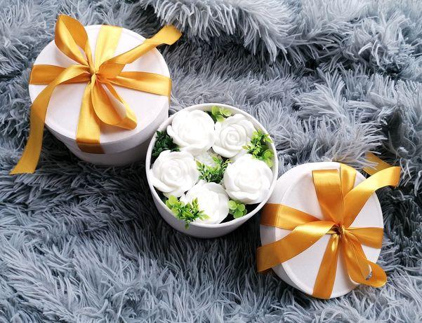 Box kwiatowy kosz prezentowy mydlany box dzień matki urodziny chrzest