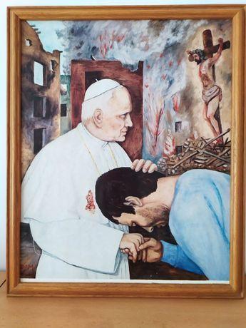 Papież Jan Paweł II. Pan Jezus. Matka boska. Obrazy.
