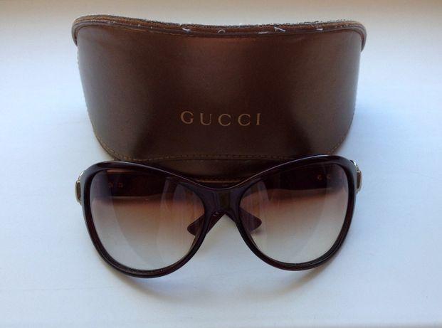 Коричневые солнцезащитные очки gucci оригинал