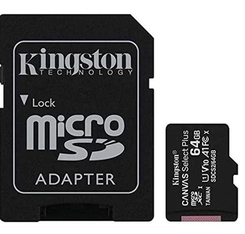 Cartão memória Kingston Plus MicroSD 64G