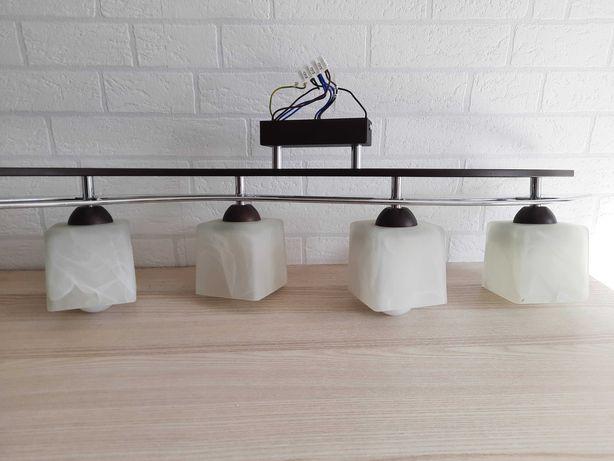 Elegancka lampa sufitowa plafon 4 punktowa chrom