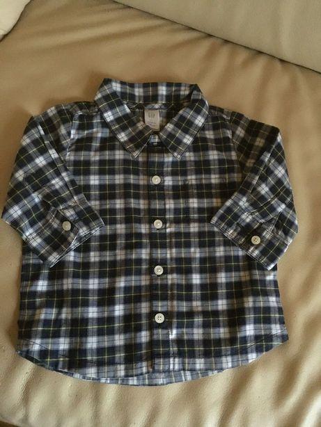 Koszula koszulka długi rękaw ubranie dla chłopca Gap 62 rozm. 3-6 mies