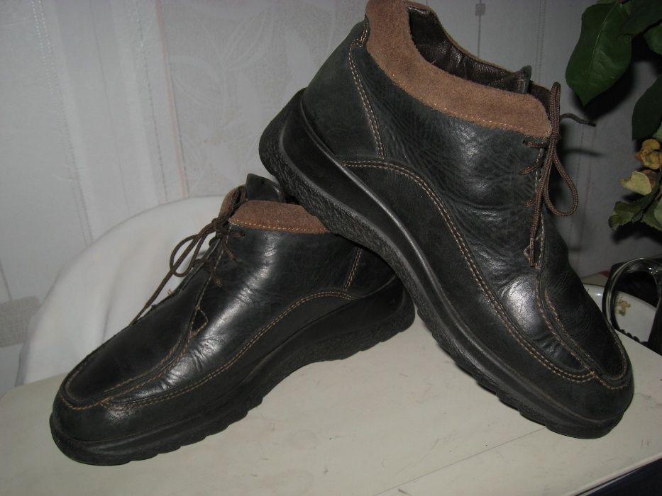 Туфли ботинки кожаные женские закрытые осень-зима,широкую ногу, р38 Киев - изображение 1