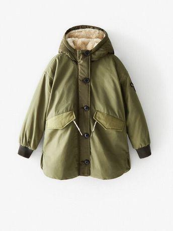 Курточка Zara новая, на девочку 7 лет