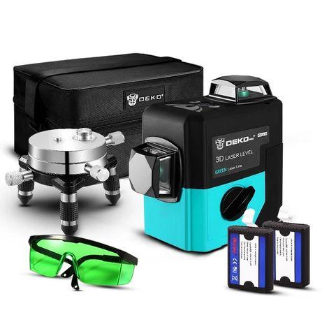 Laser płaszczyznowy 360 laser krzyżowy poziomica laserowa zielony