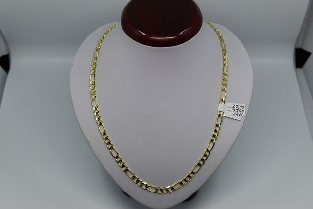 Złoto/Złoty łańcuszek męski 585 14K 25,10 gram Figaro Nowe Okazja