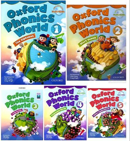 Друк книг Oxford phonics world 1,2,3,4,5 SB+WB+audio, video,tests