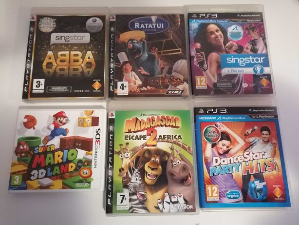 Lote 7 jogos ps3 Wii Nintendo 3ds