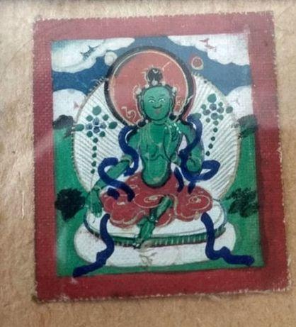 Tybetańska tanka miniaturowa Syamatara. 19 wiek