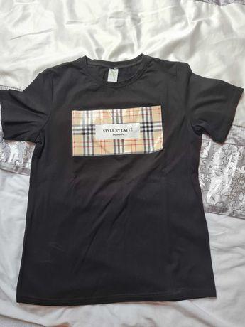 Koszulka -shirt - Latte Fashion , roz L , czarna