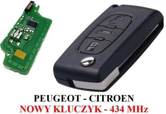 Nowy kluczyk PEUGEOT 407,307,207,Partner CITROEN C3,C4,C5,C6,Berlingo