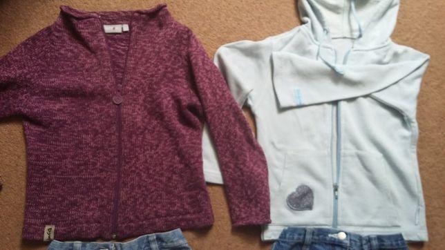 WÓJCIK Bluza rozpinana + H&M + bluza GEORGE 116-122cm 3szt zestaw bluz