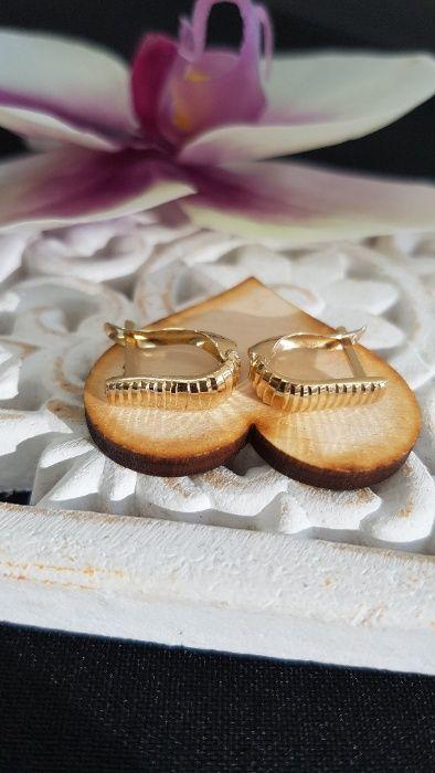 (k) Złote kolczyki Wężowe 585 1,35 g Nowość !!! Malbork - image 1