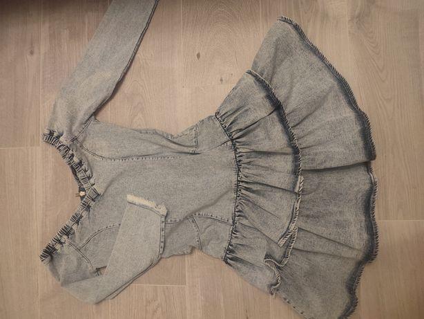 Sukienka jeansowa hiszpanka s lou