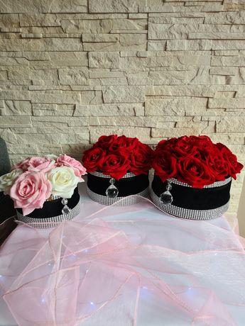 Flowers Box z róży welurowej