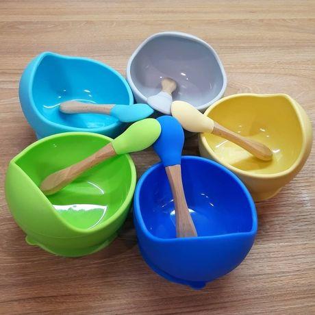 Детская силиконовая посуда, наборы детской посуды