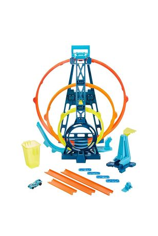 Трек HotWheels Track Builder Потрійна петляhot wheels тройная петля